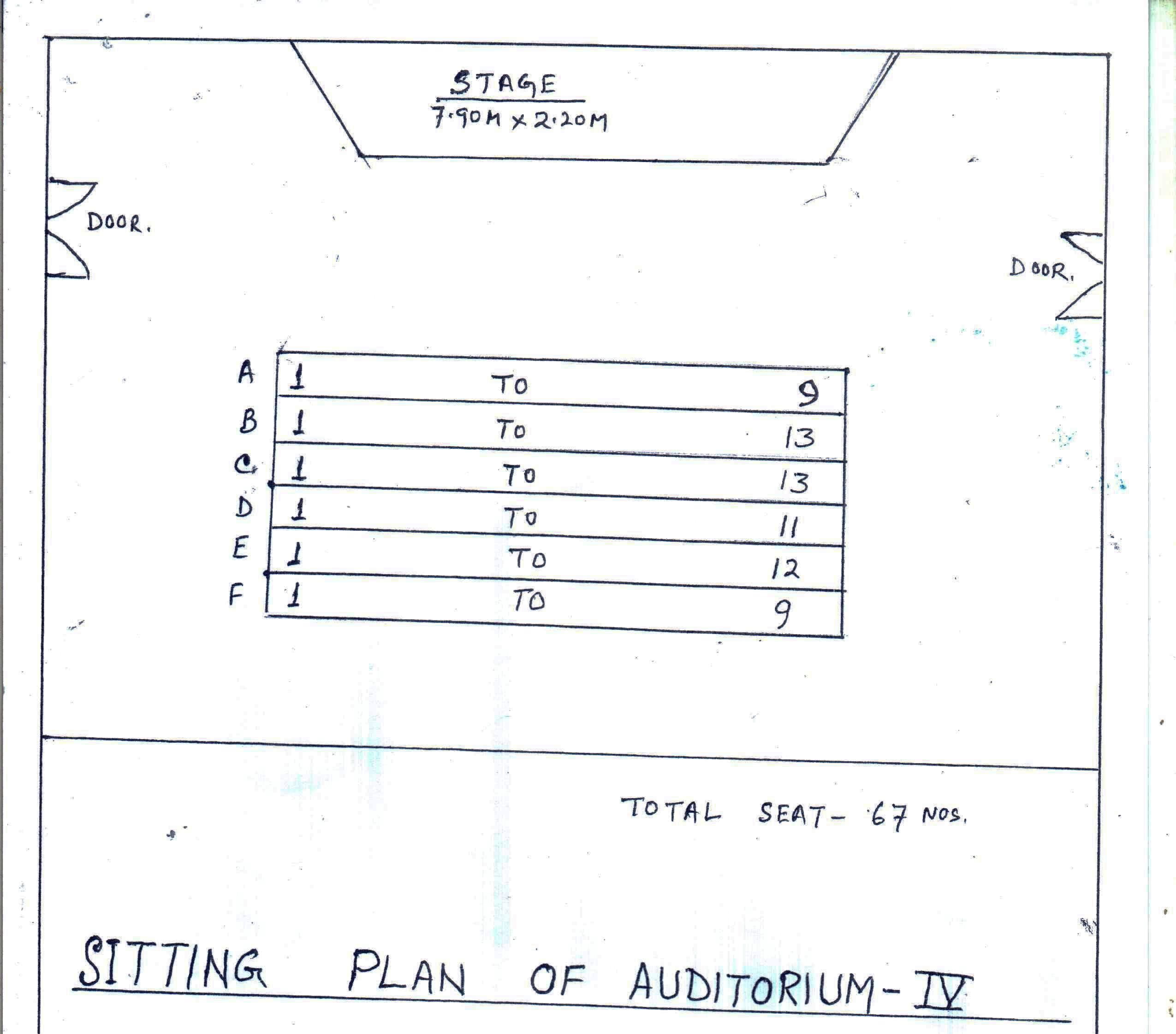 Auditorium - IV Seating plan