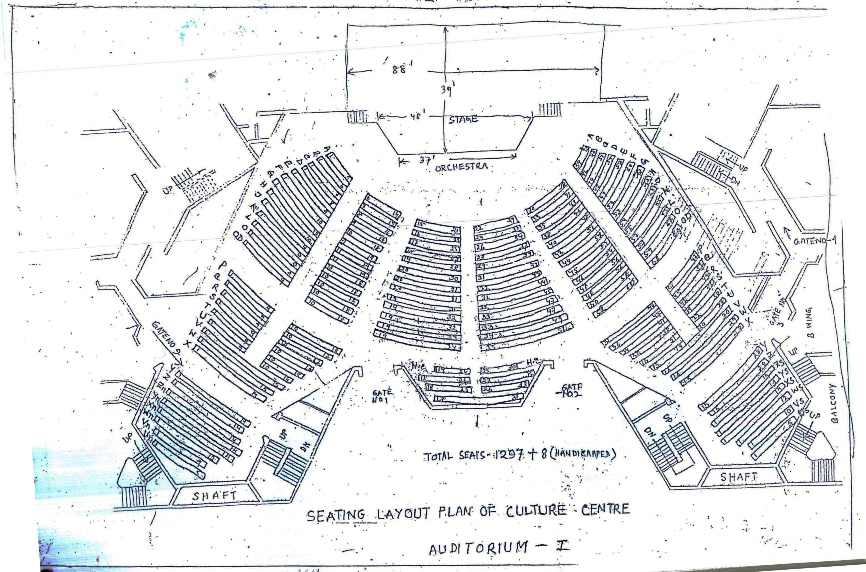Auditorium - I Seating plan - Ground Floor